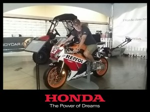 Me on Honda motorcycle