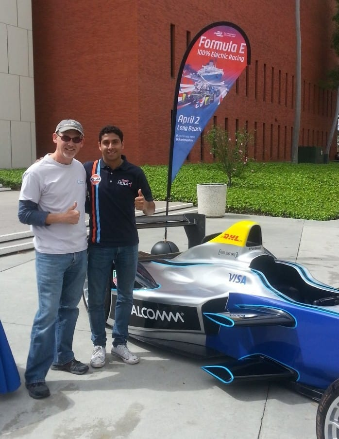 Electric racing with Salvador Duran Formula E driver