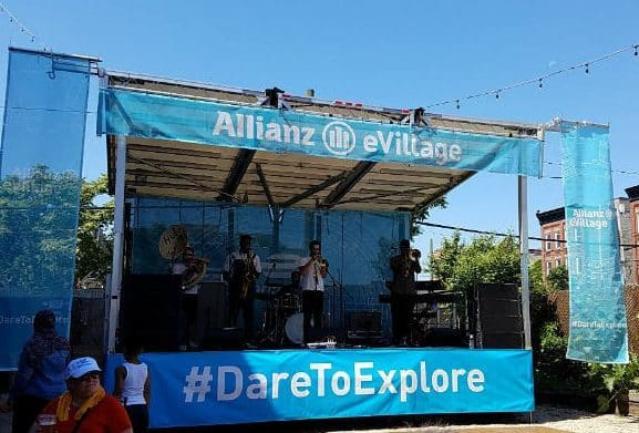 eVillage Formula E live music stage for the Super Fan