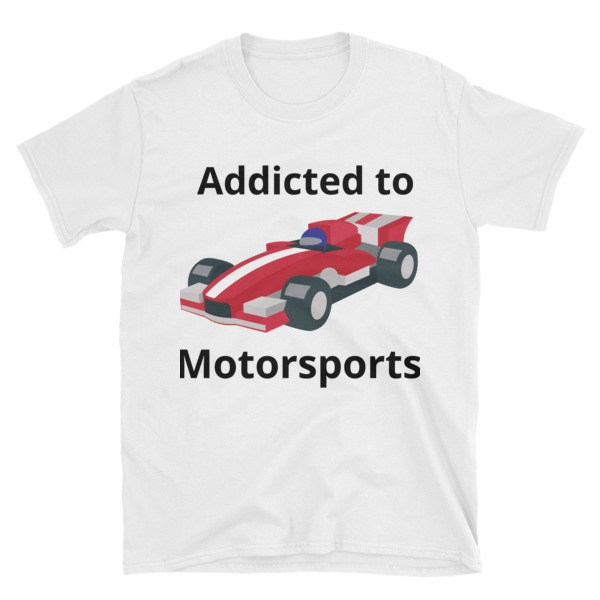 Addicted to Motorsports Printful t-shirt mockup