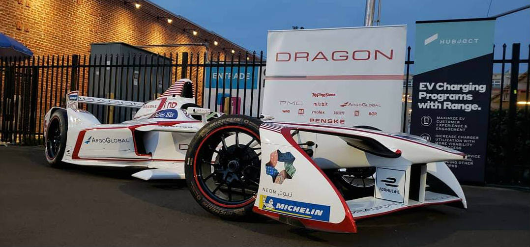 Dragon racing Formula E race car