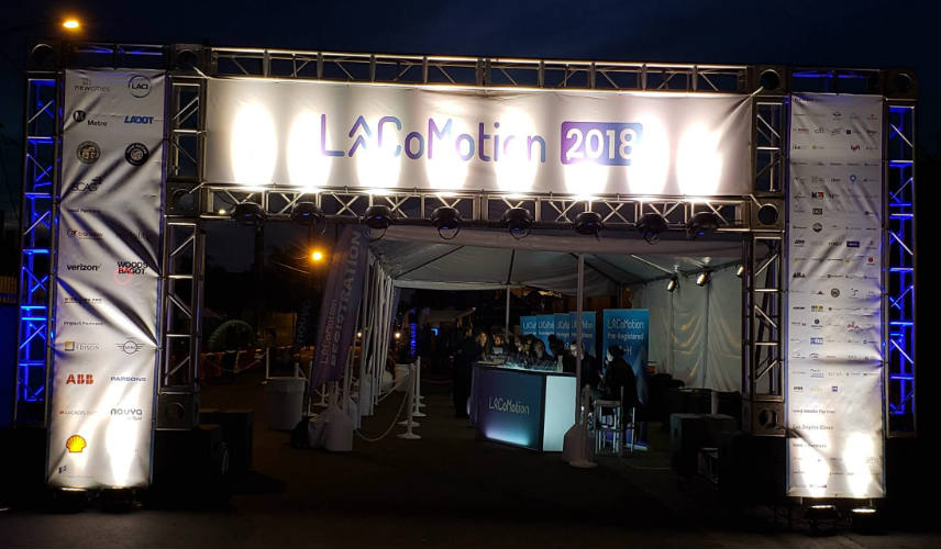 LA CoMotion entrance night